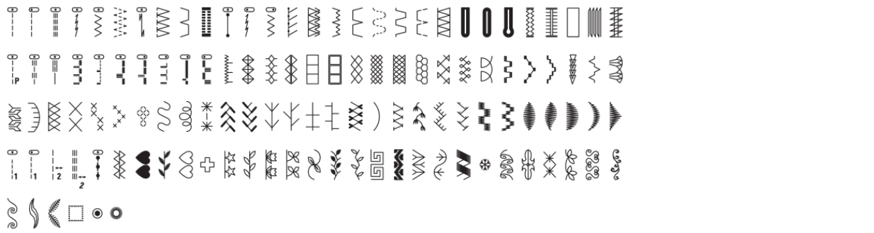B38 stich pattern